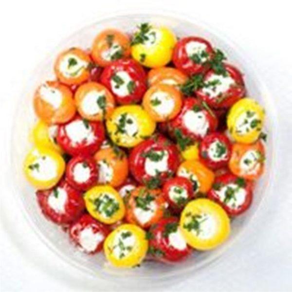 900 Ardei Cherry 3 culori Umpluti cu Branza 1,3 kg