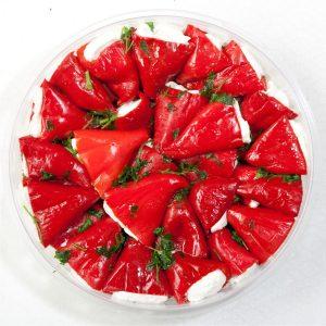 900 Mini Ardei Rosii Umpluti cu Branza 1,3 kg
